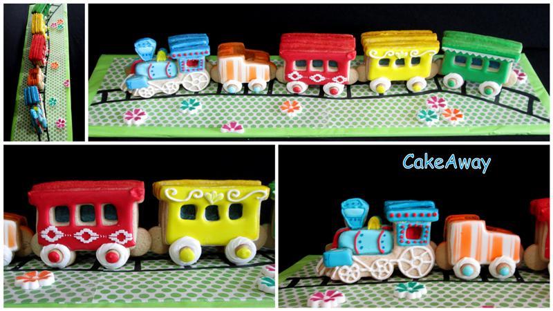 3D cookie train