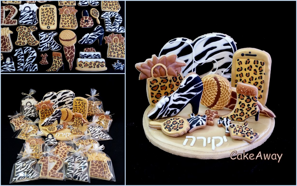 3d cookie topper- animal prints- kira bat mitzvah