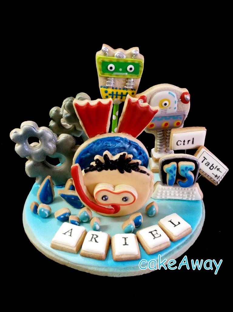 Ariel - cookie topper