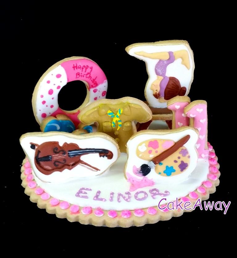 Elinor- gymnastics cookie topper