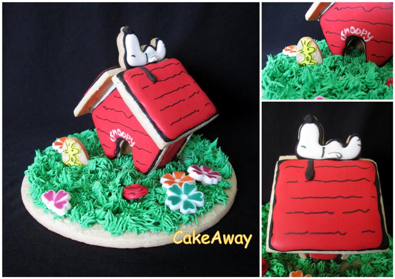 Snoopy 3D cookie topper