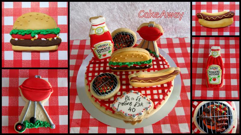 bbq cookie topper