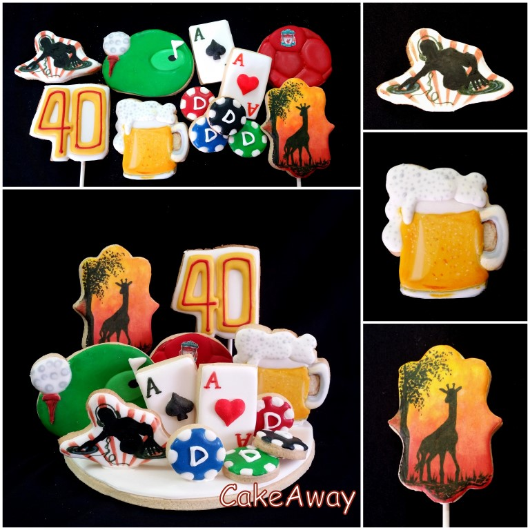 beer and golf cookie topper