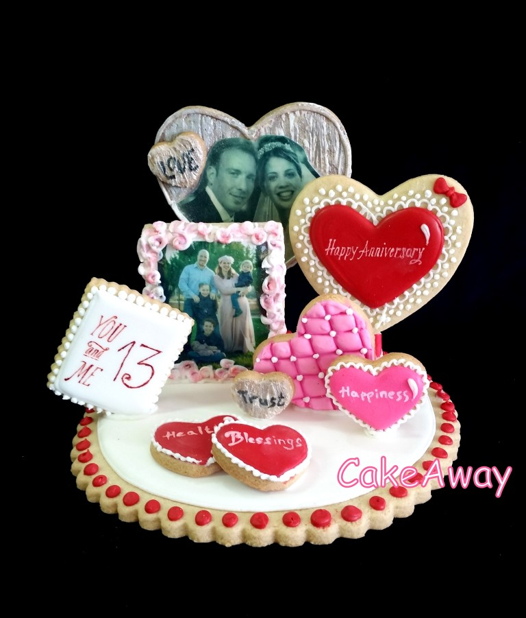 cookie topper for anniversary