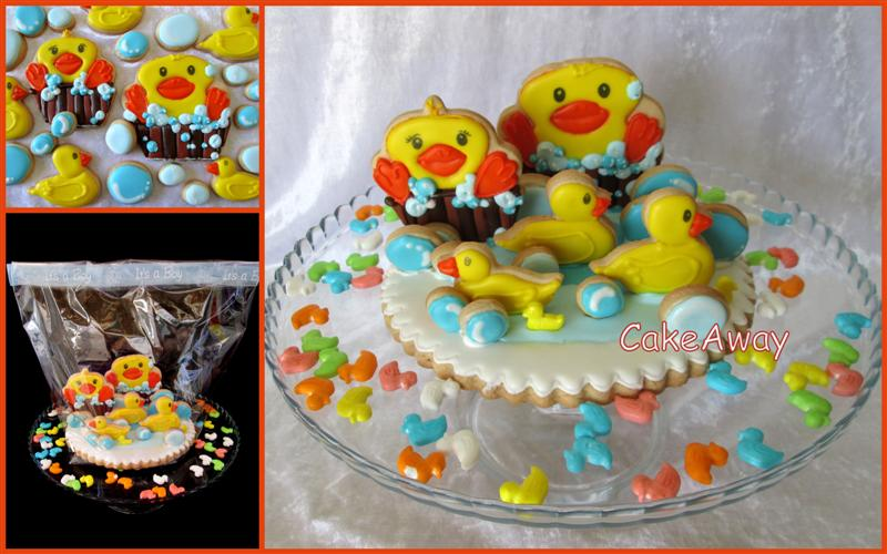 duck cookie topper