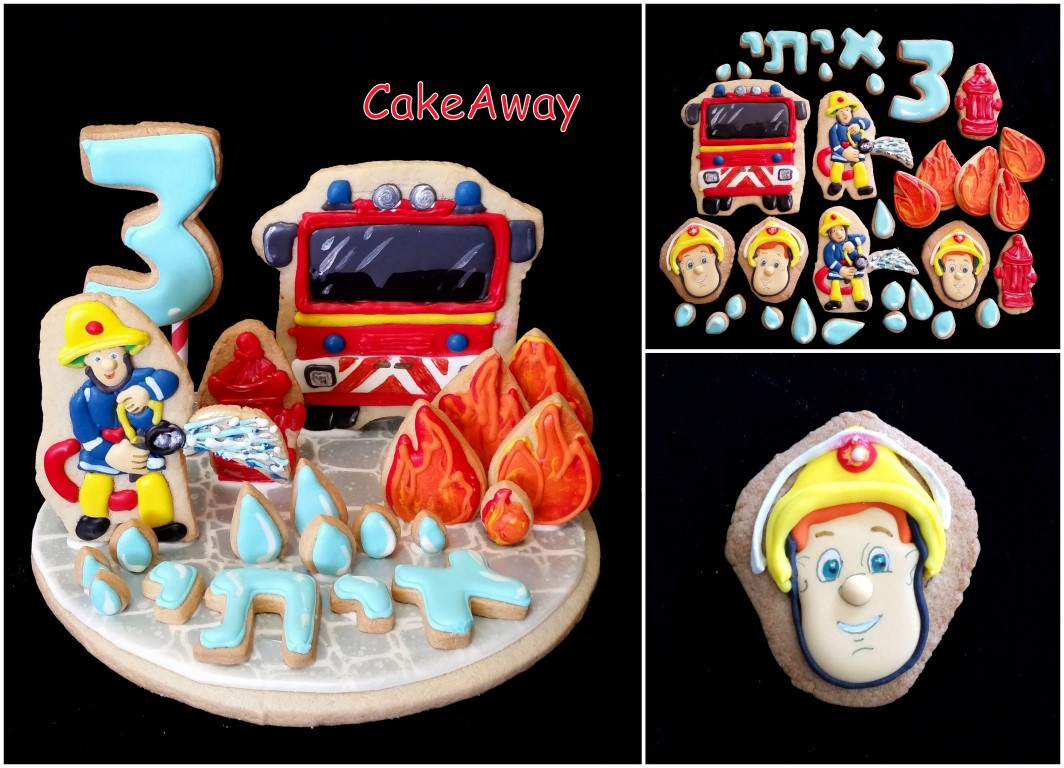 firefighter sam cookie topper