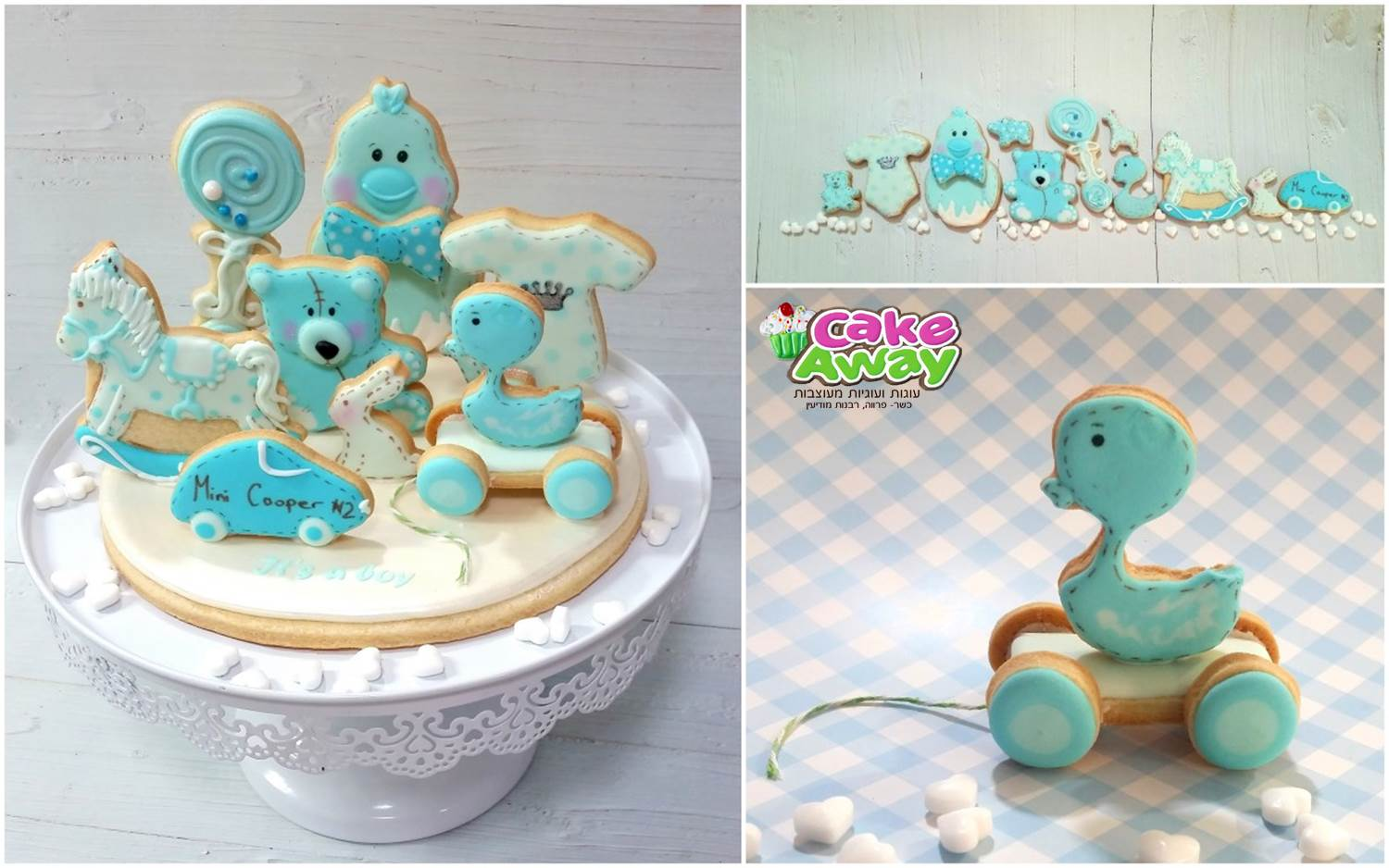 its a boy cookie topper