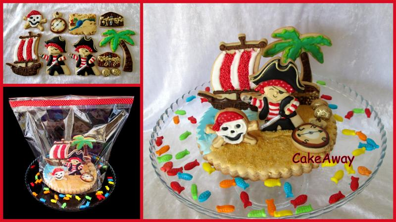 pirate cookie topper