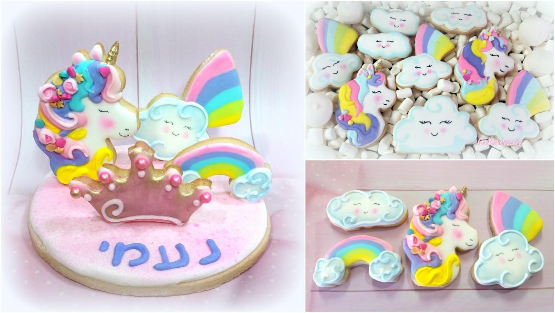 unicorn cookie topper