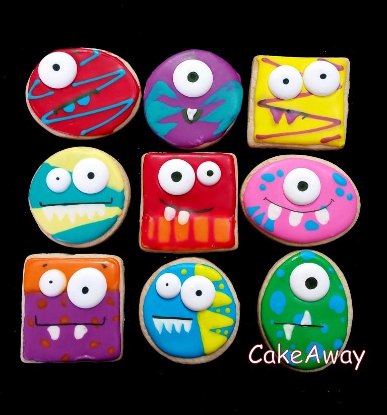 Purim monster cookies