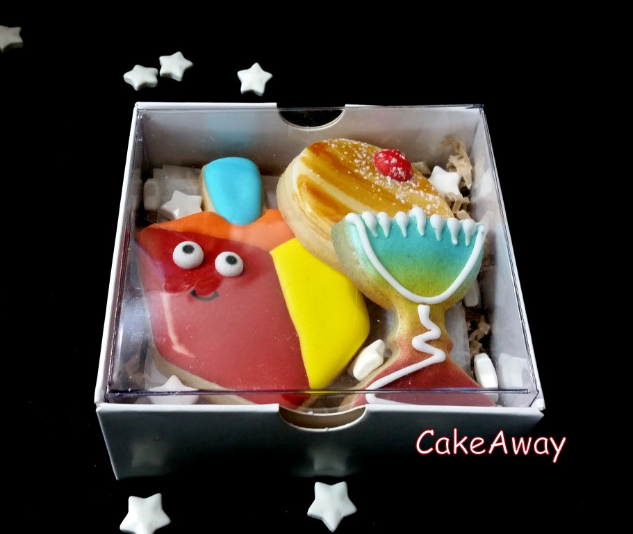 3 hanukkah cookie box