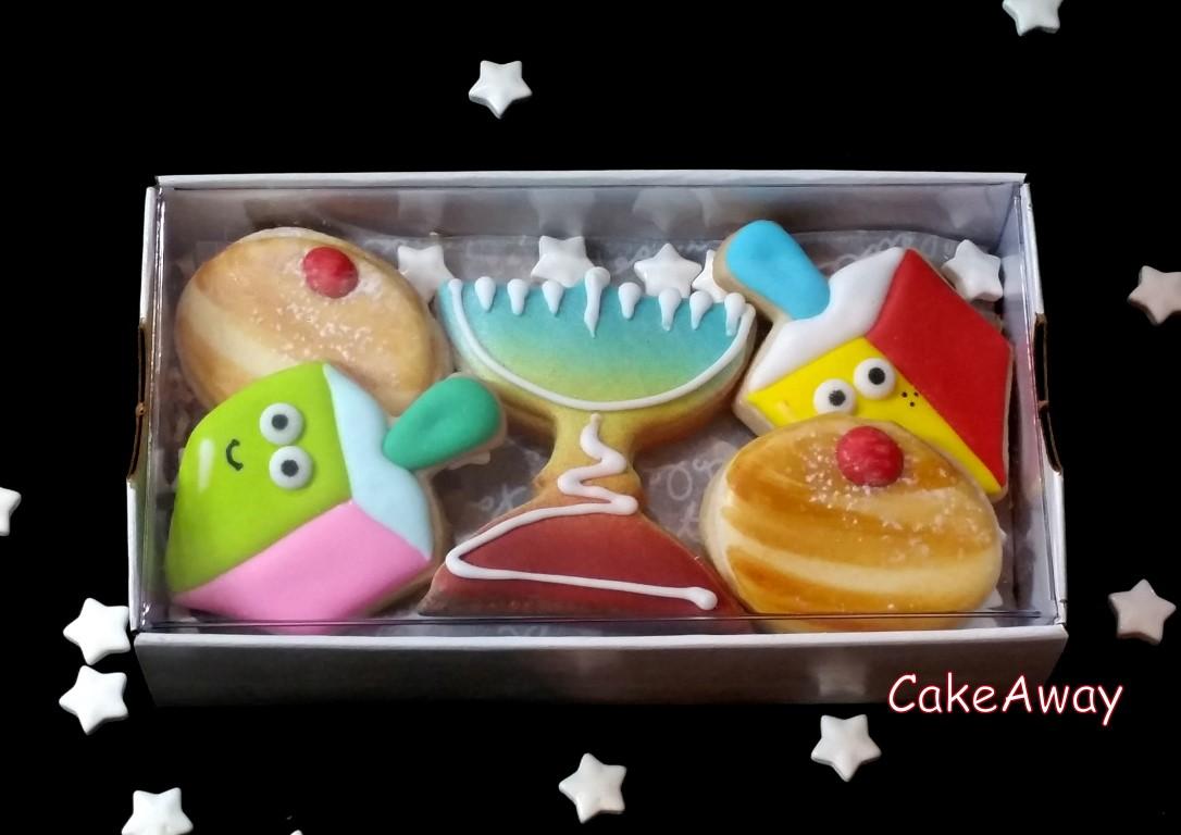 5 hanukkah cookie box