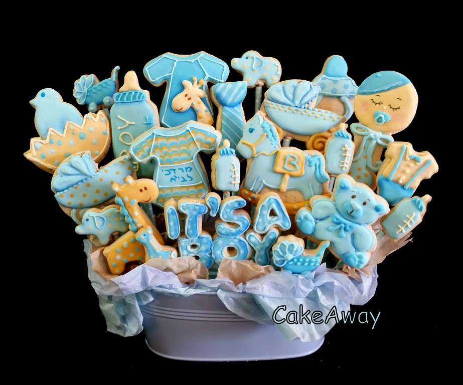 cookie pot for a baby boy