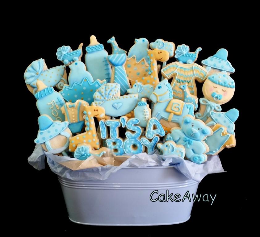 its a boy cookie pot