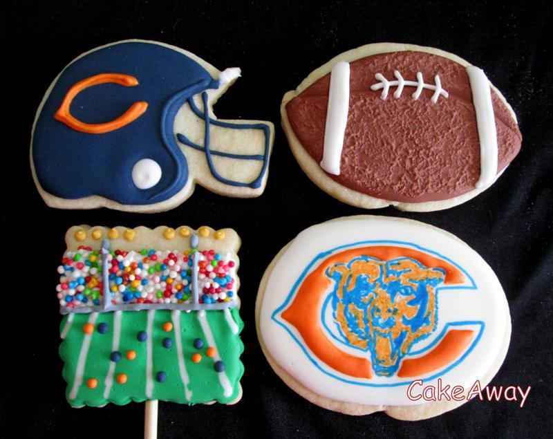 Chicago bears football cookies