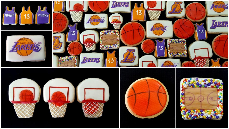 LA Lakers bar mitzvah cookies