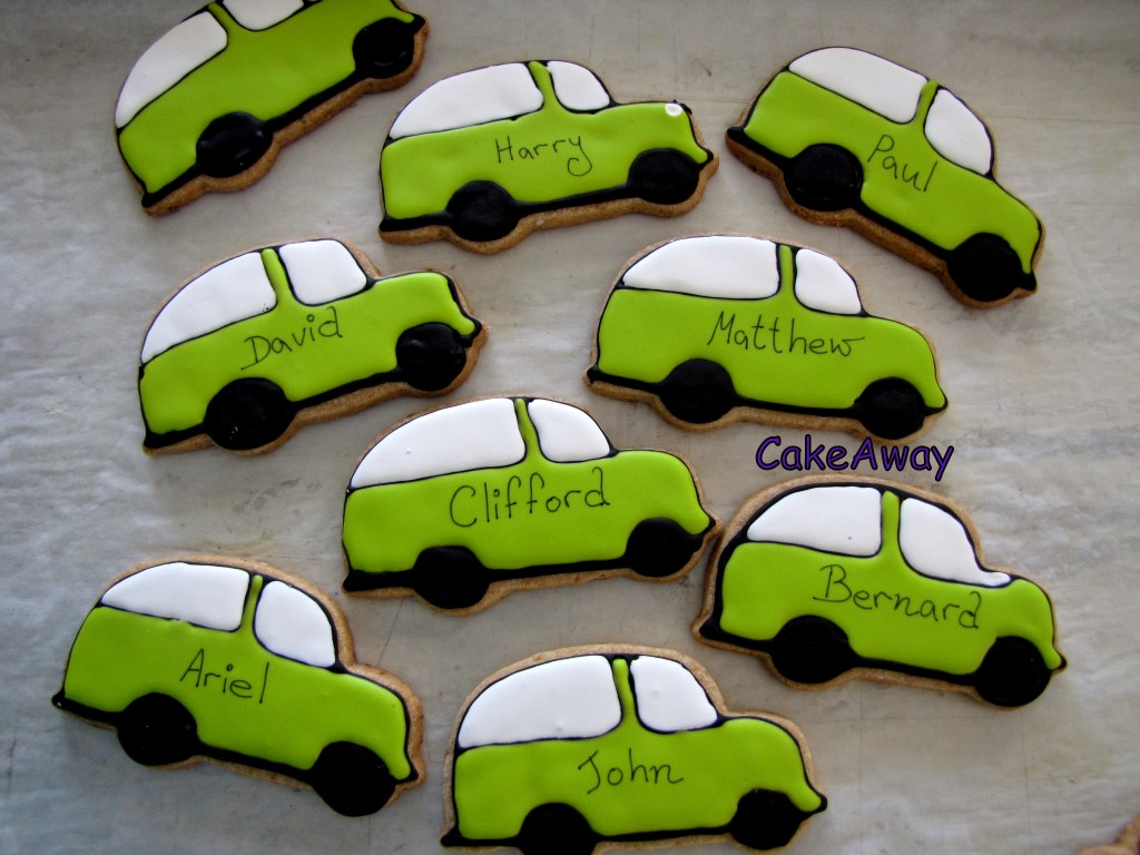 cars as place cards