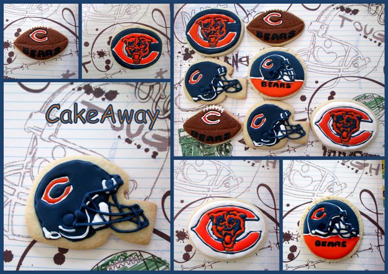 chicago bears cookies