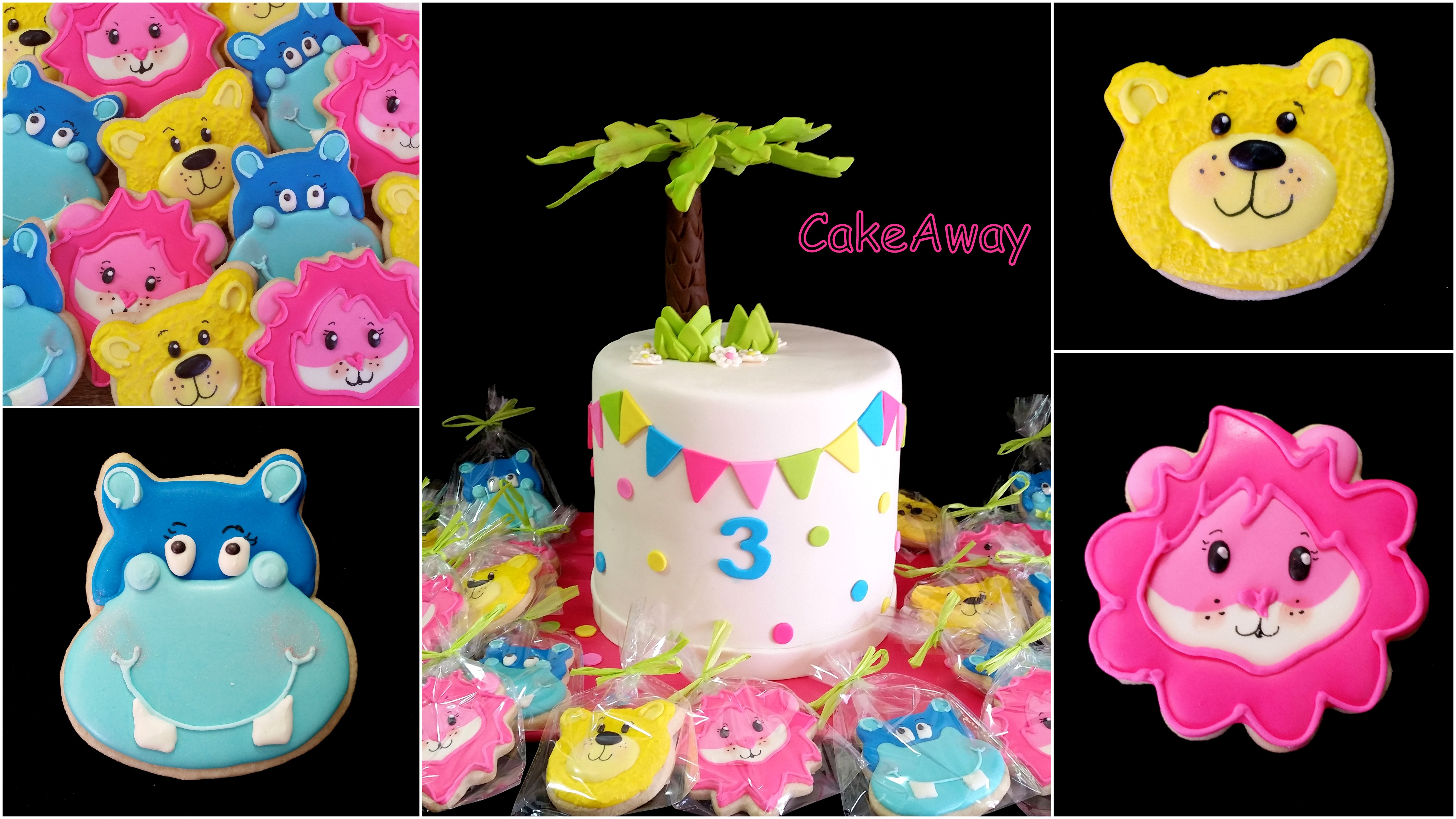 colorful cookies and cake