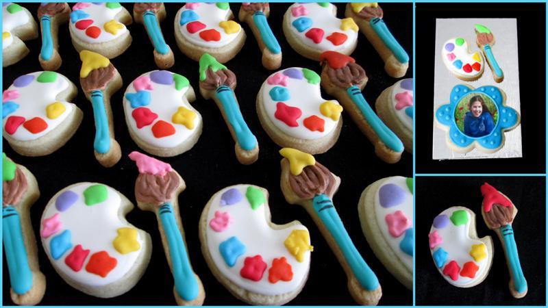 painting bat mitzvah cookies