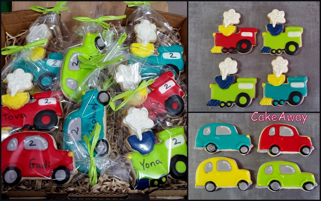 train and car cookies-Asher 2