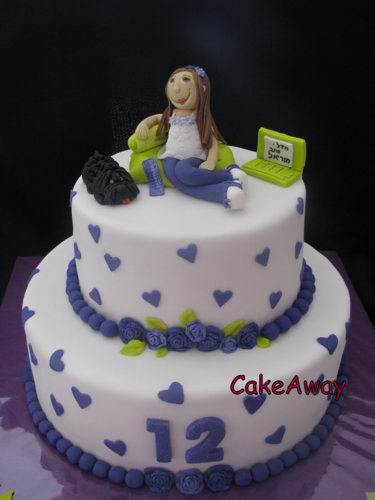 Moriel-bat mitzvah cake