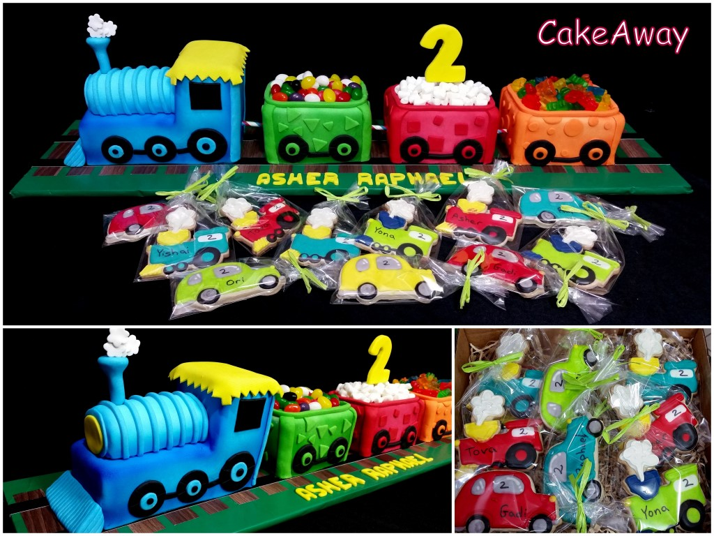 Train cake and cookies -Asher 2