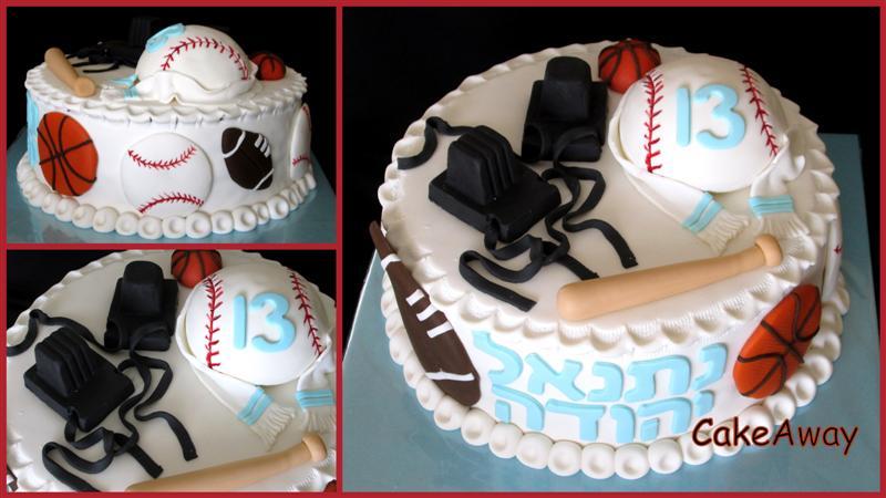 bar-mitzvah sports cake