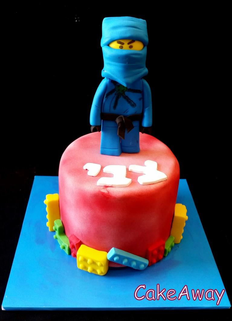 blue ninjago 3d cake