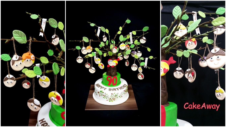family tree cake- 90