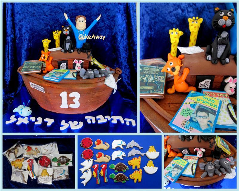 noas ark cake and cookies