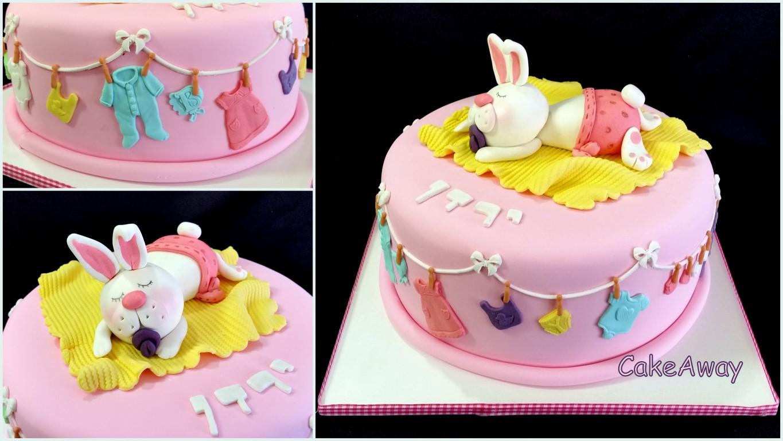 rabbit baby cake