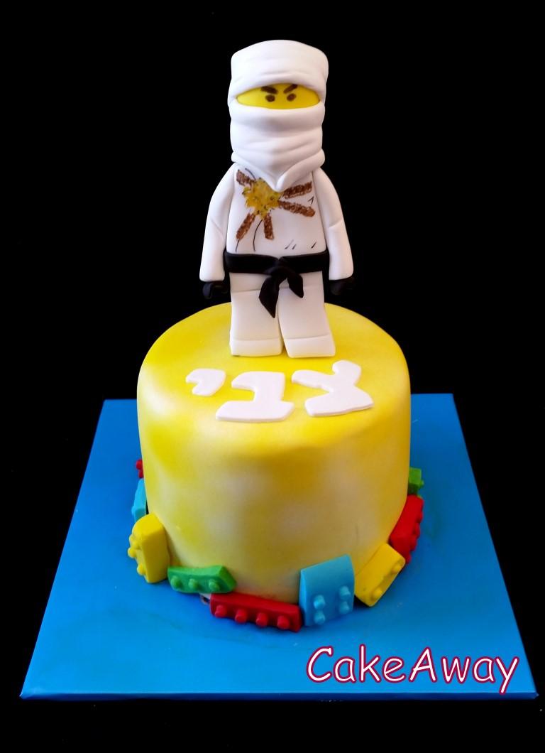 white ninjago 3d cake