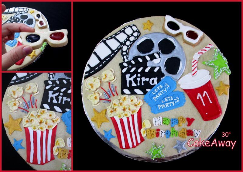 movie theme giant cookie